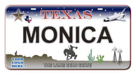 customized license plate