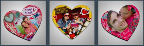 heart shaped photo baloons