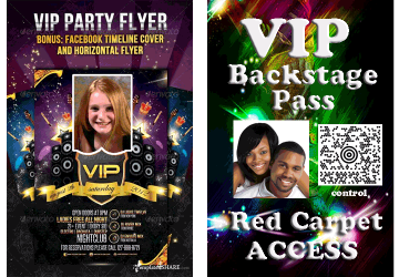 VIP Backstage Access Card